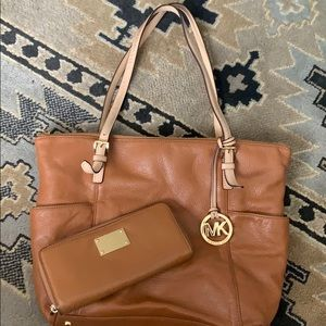 Michael Kors matching leather purse and wallet